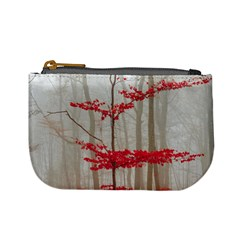 Magic Forest In Red And White Mini Coin Purses
