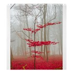 Magic forest in red and white Shower Curtain 66  x 72  (Large)  58.75 x64.8 Curtain