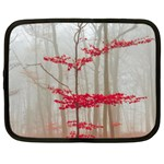 Magic forest in red and white Netbook Case (XL)  Front