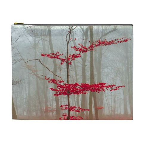 Magic forest in red and white Cosmetic Bag (XL)