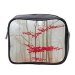 Magic forest in red and white Mini Toiletries Bag 2-Side Front