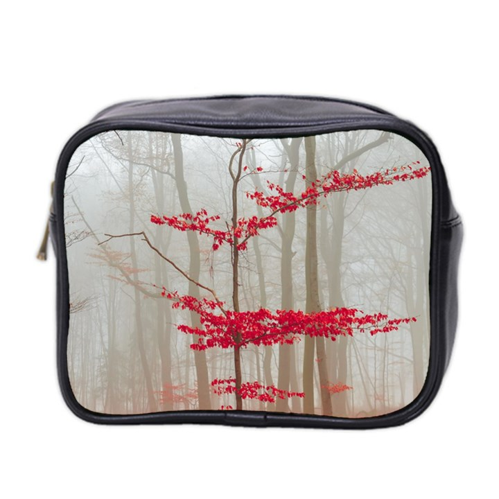 Magic forest in red and white Mini Toiletries Bag 2-Side