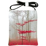 Magic forest in red and white Shoulder Sling Bags Front