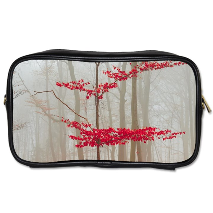 Magic forest in red and white Toiletries Bags 2-Side