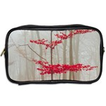 Magic forest in red and white Toiletries Bags 2-Side Back