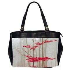 Magic forest in red and white Office Handbags (2 Sides)