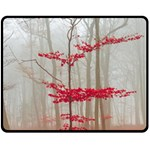 Magic forest in red and white Fleece Blanket (Medium)  60 x50 Blanket Front