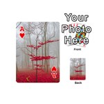 Magic forest in red and white Playing Cards 54 (Mini)  Front - HeartA