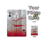 Magic forest in red and white Playing Cards 54 (Mini)  Front - ClubQ