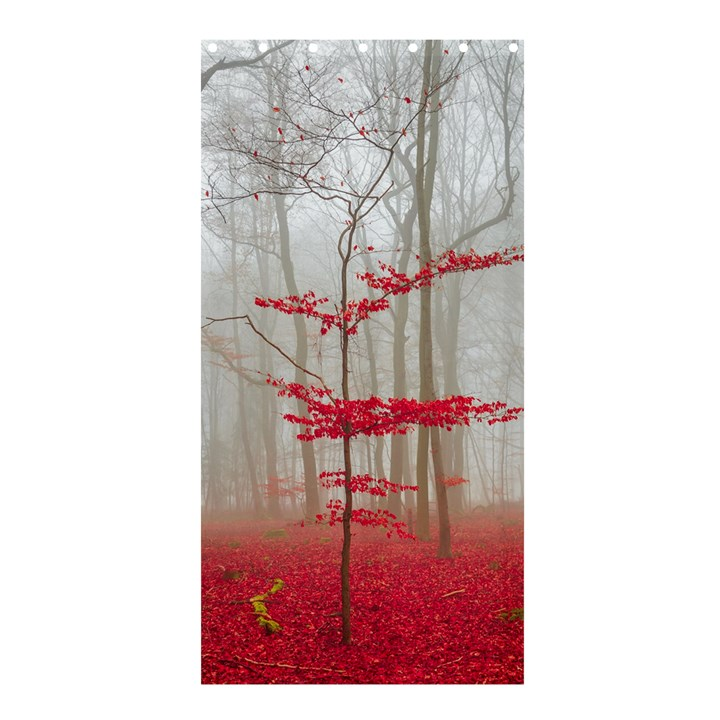 Magic forest in red and white Shower Curtain 36  x 72  (Stall)