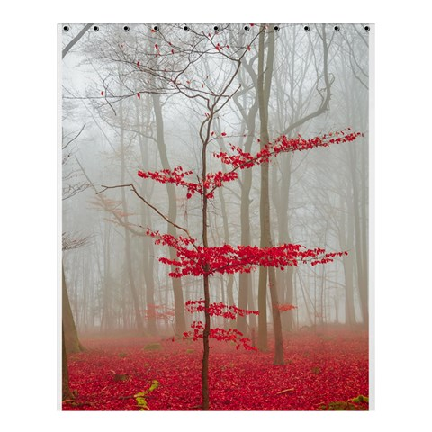 Magic forest in red and white Shower Curtain 60  x 72  (Medium)