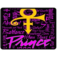 Prince Poster Double Sided Fleece Blanket (large)