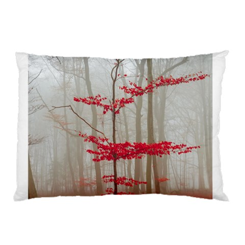 Magic forest in red and white Pillow Case (Two Sides)