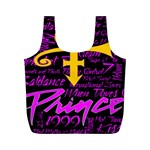 Prince Poster Full Print Recycle Bags (M)  Back
