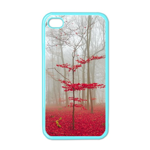 Magic forest in red and white Apple iPhone 4 Case (Color)
