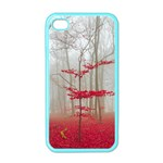Magic forest in red and white Apple iPhone 4 Case (Color) Front