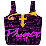 Prince Poster Full Print Recycle Bags (L)  Front