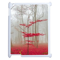 Magic forest in red and white Apple iPad 2 Case (White)