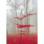 Magic forest in red and white WORK HARD 3D Greeting Card (7x5) Inside