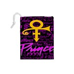 Prince Poster Drawstring Pouches (Small)  Back