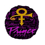 Prince Poster Standard 15  Premium Flano Round Cushions Back