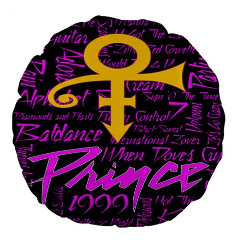 Prince Poster Large 18  Premium Flano Round Cushions