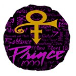 Prince Poster Large 18  Premium Flano Round Cushions Back