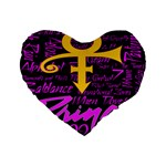 Prince Poster Standard 16  Premium Flano Heart Shape Cushions Front