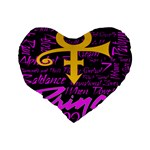 Prince Poster Standard 16  Premium Flano Heart Shape Cushions Back