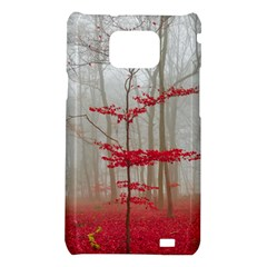 Magic forest in red and white Samsung Galaxy S2 i9100 Hardshell Case