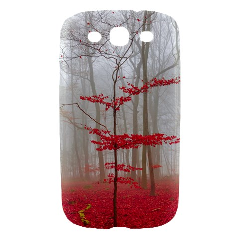 Magic forest in red and white Samsung Galaxy S III Hardshell Case