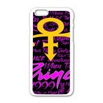 Prince Poster Apple iPhone 6/6S White Enamel Case Front