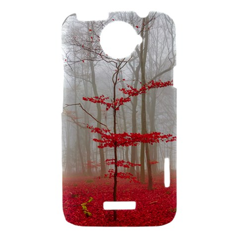 Magic forest in red and white HTC One X Hardshell Case
