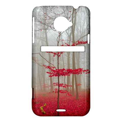 Magic forest in red and white HTC Evo 4G LTE Hardshell Case