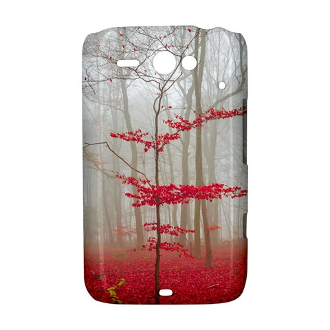 Magic forest in red and white HTC ChaCha / HTC Status Hardshell Case