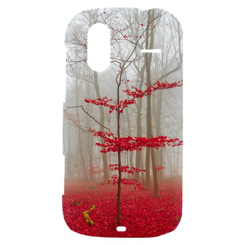 Magic forest in red and white HTC Amaze 4G Hardshell Case