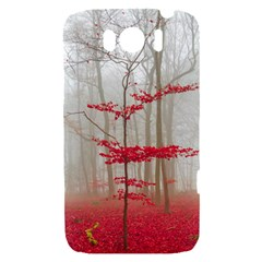 Magic forest in red and white HTC Sensation XL Hardshell Case