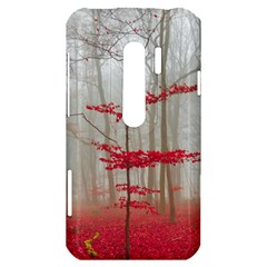 Magic forest in red and white HTC Evo 3D Hardshell Case