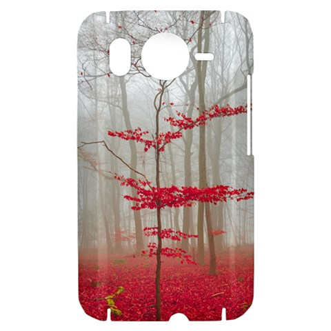 Magic forest in red and white HTC Desire HD Hardshell Case