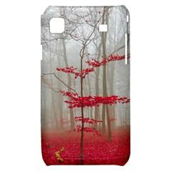 Magic forest in red and white Samsung Galaxy S i9000 Hardshell Case