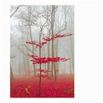 Magic forest in red and white Small Garden Flag (Two Sides) Back
