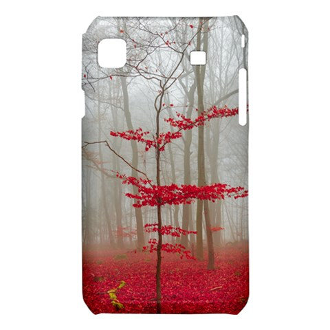 Magic forest in red and white Samsung Galaxy S i9008 Hardshell Case