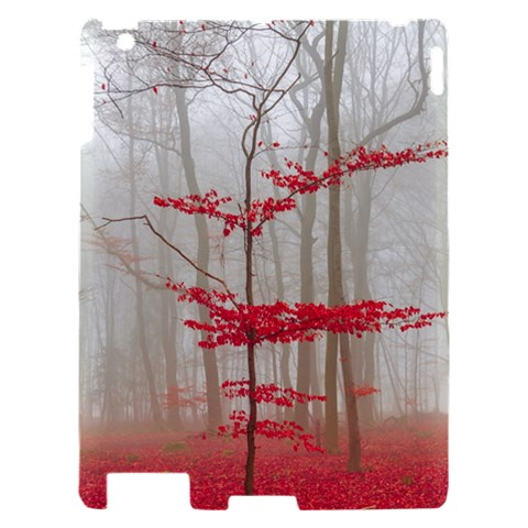 Magic forest in red and white Apple iPad 2 Hardshell Case