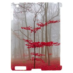 Magic forest in red and white Apple iPad 2 Hardshell Case (Compatible with Smart Cover)