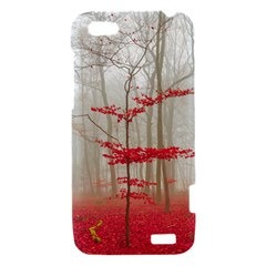 Magic forest in red and white HTC One V Hardshell Case