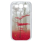 Magic forest in red and white Samsung Galaxy S III Case (White) Front