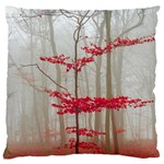 Magic forest in red and white Large Cushion Case (Two Sides) Back