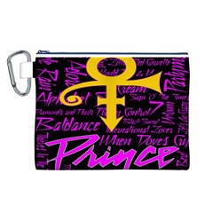 Prince Poster Canvas Cosmetic Bag (l)