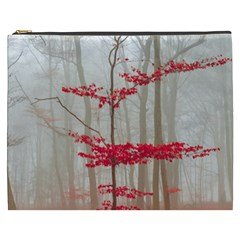Magic forest in red and white Cosmetic Bag (XXXL)