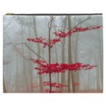 Magic forest in red and white Cosmetic Bag (XXXL)  Front